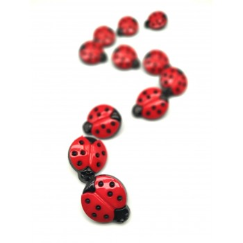 LadyBug Shaped Button